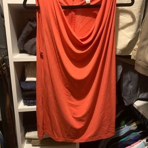 Orange Scoop Neck Shell